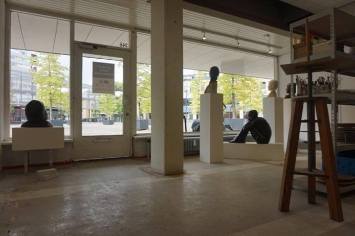 Kunstatelier aan het Koningsplein.