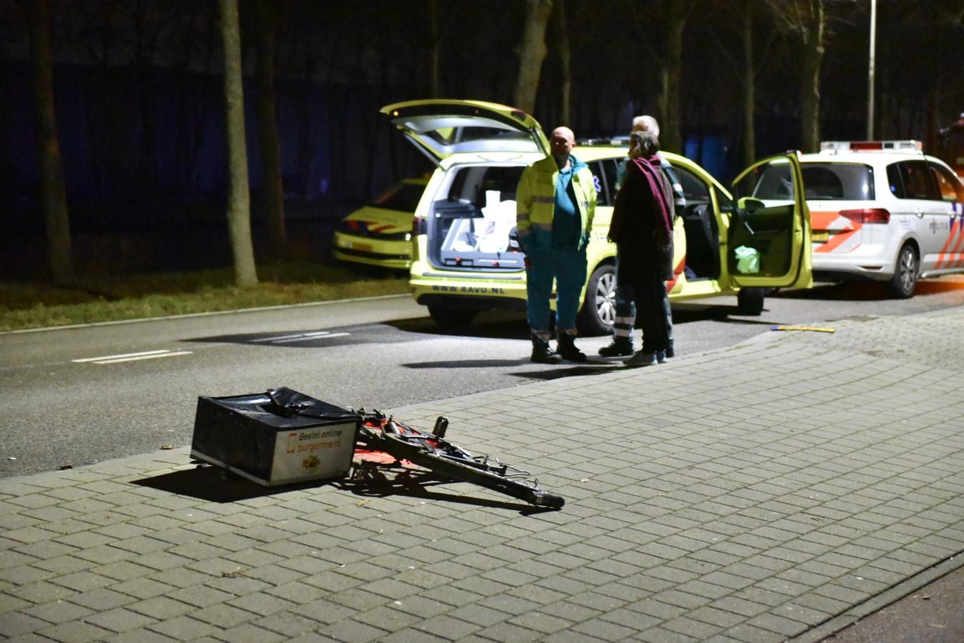 De maaltijdbezorger raakte zwaargewond bij een ongeluk op de Amsterdamsestraatweg.
