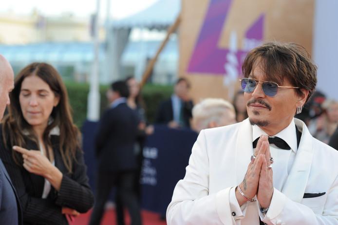 Johnny Depp sur le tapis rouge du Festival de Deauville.