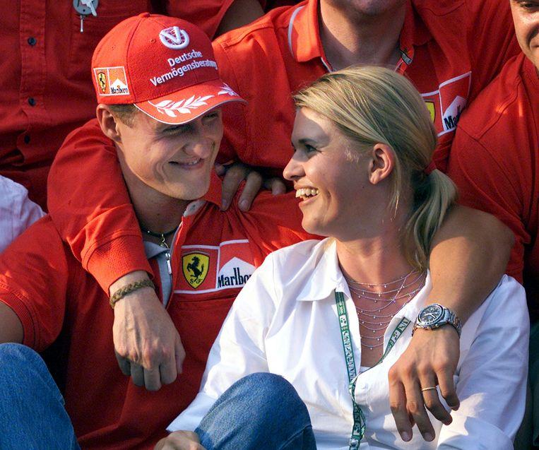 Michael Schumacher en zijn vrouw Corinna Schumacher in 2001.