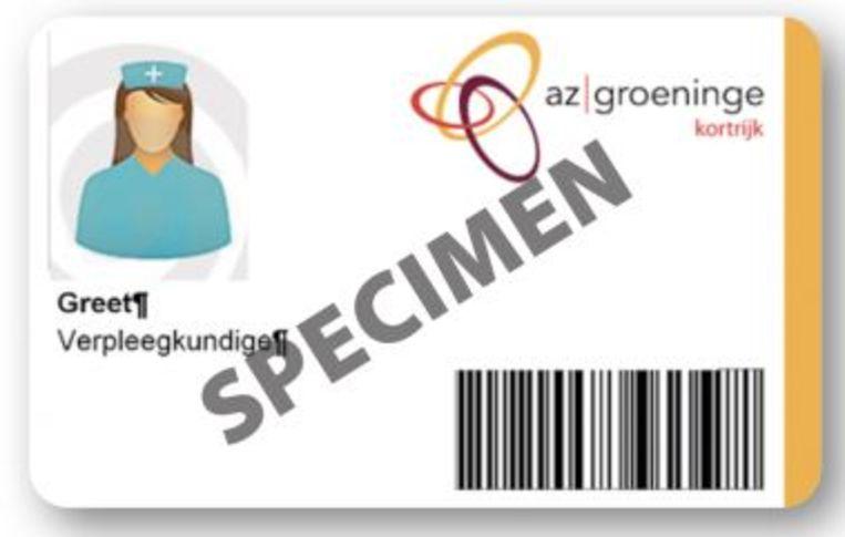 De personeelsleden van AZ Groeninge hoeven enkel hun badge te tonen