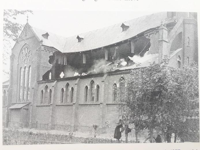 Rk kerk Hoogmade na instorting 1929