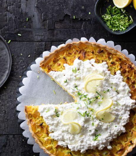 Wat Eten We Vandaag: Hartige taart met zalm, citroen en cottage cheese