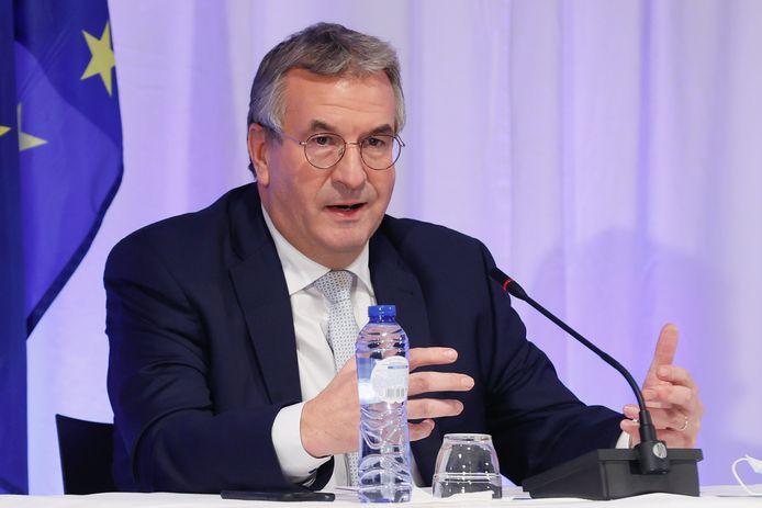 Pierre-Yves Jeholet, ministre-président de la Fédération Wallonie-Bruxelles