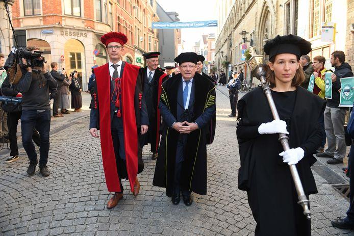 Rector Luc Sels (KU Leuven) tijdens de opening van het academiejaar.