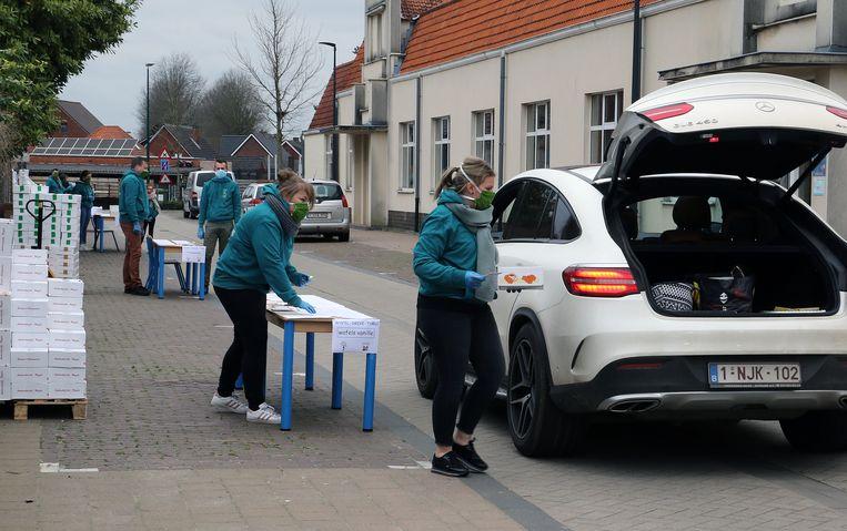 De Wafel-Drive-Thru in Vorselaar kende veel succes