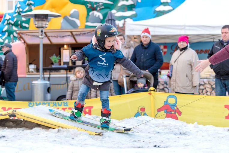 In het Riglet park kunnen kinderen leren snowboarden