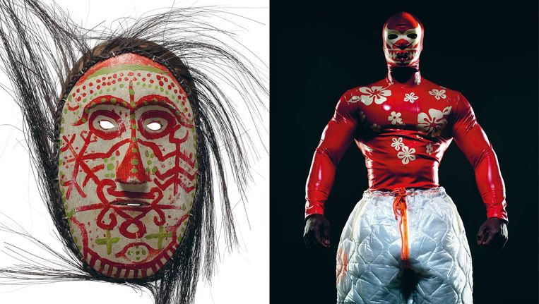 Power Mask expo in Wereldmuseum, Rotterdam. Beeld Ronald Stoops