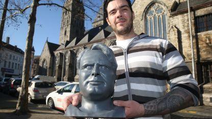 """Kunstenaar print hoofd Luc De Vos en hoopt dat het standbeeld wordt: """"Gents icoon verdient zo'n eerbetoon"""""""