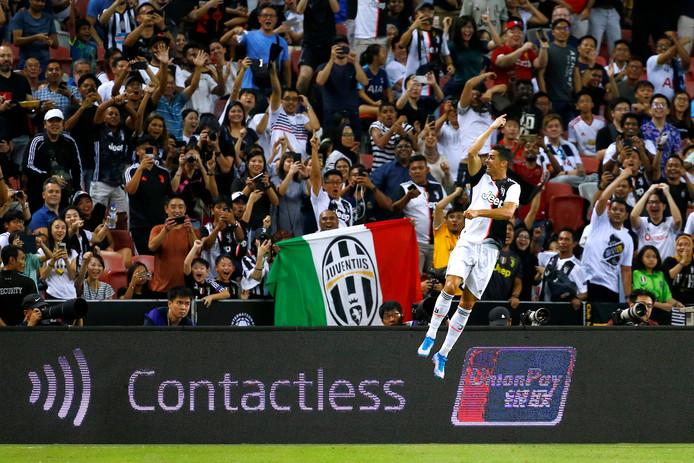 Cristiano Ronaldo was ook tegen Tottenham Hotspur weer trefzeker.