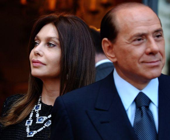 Veronica Lario met Silvio Berlusconi.