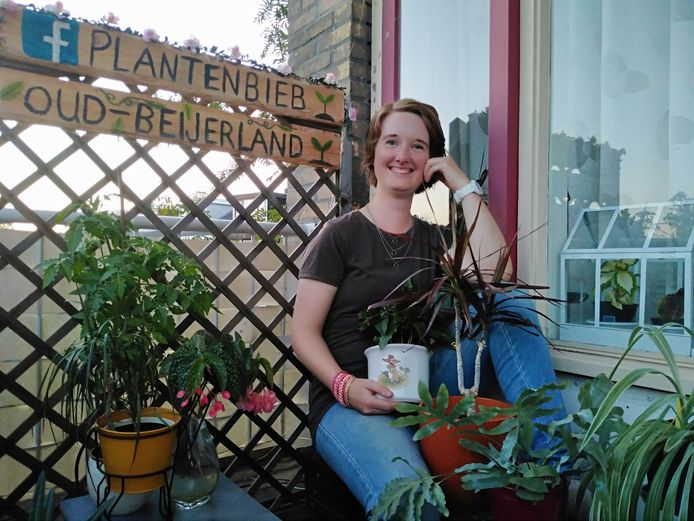 Jolanda Bouma heeft een plantenbieb opgericht.