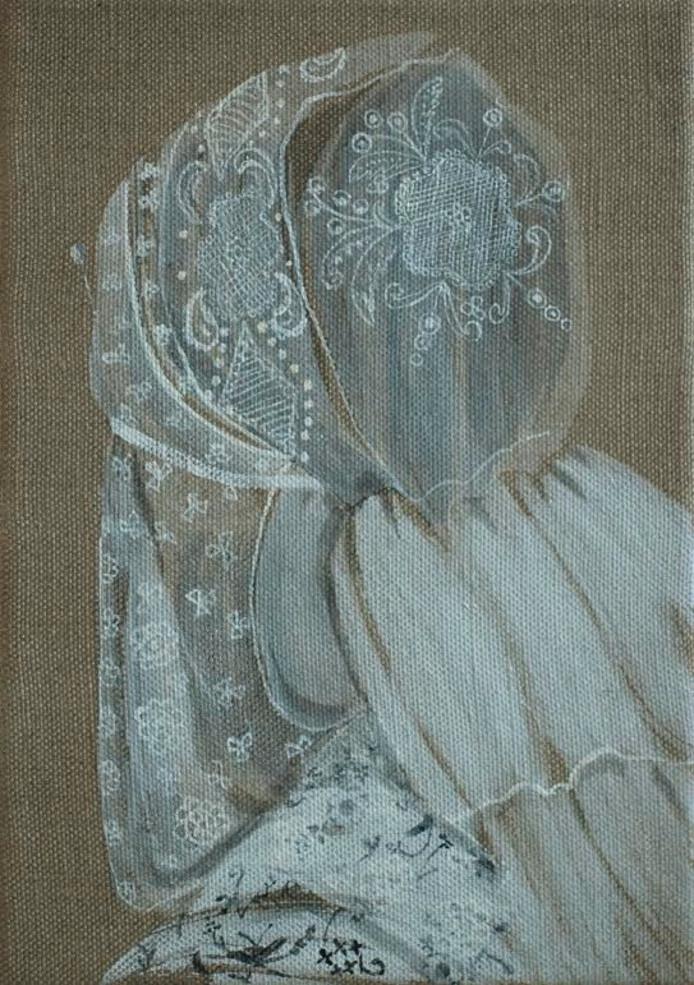 Rolina Nell heeft schilderijen en tekeningen gemaakt, waarin invloeden te herkennen zijn van onder meer de Schokker klederdracht.