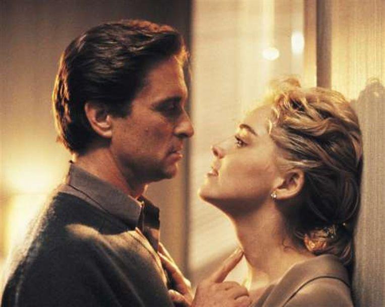 Michael Douglas en Sharon Stone in Basic Instinct. Beeld