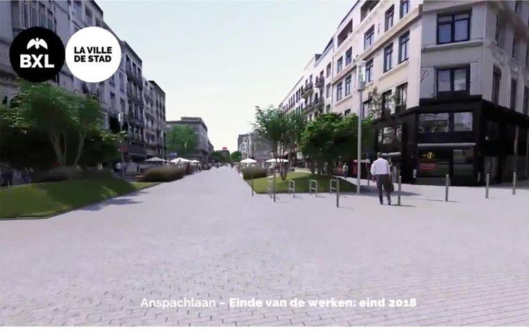 Dit is hoe de toekomstige voetgangerszone, mét opgesmukte gebouwen eruit zal zien.