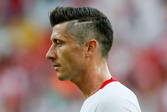 Lewandowski viel op met zijn kapsel, niet met goals.