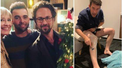 SHOWBITS. Nu al kerst op de set van 'Thuis' en Freek scheert zijn benen