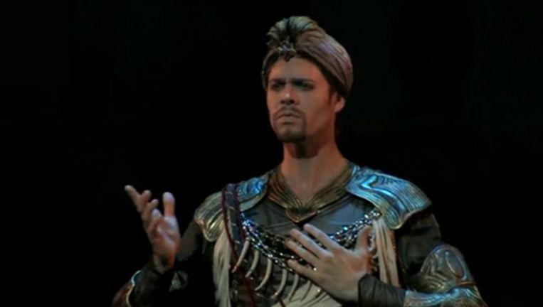 Matthew Golding in zijn eerste rol voor het Nationaal Ballet in 2009. Beeld