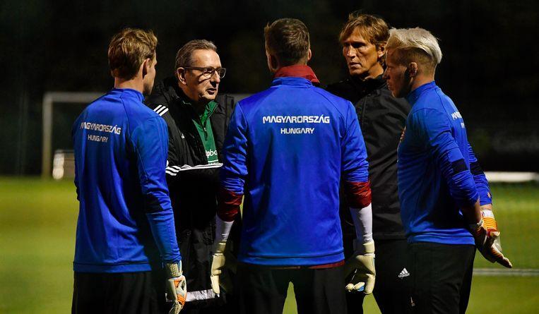 Leekens trainde gisteren met Hongarije.