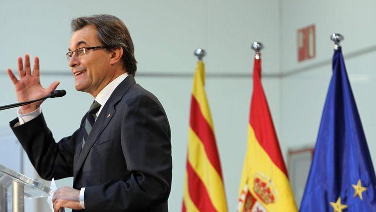 President Artur Mas van Catalonië. Beeld EPA
