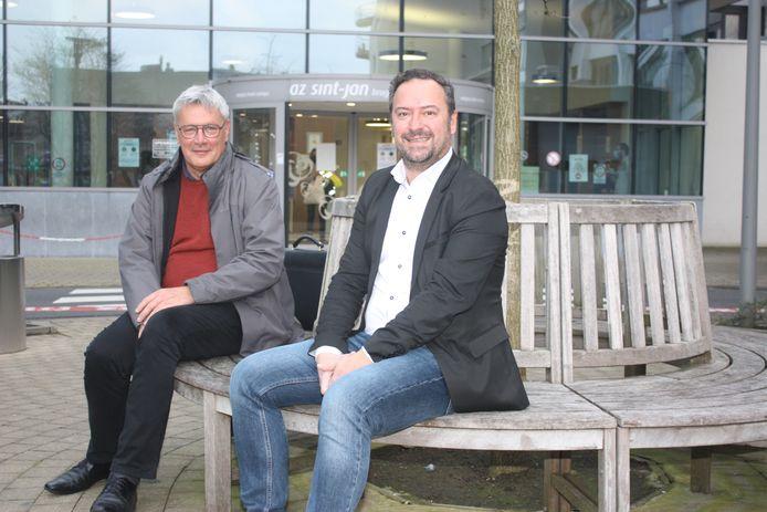 Directeur Hans Rigauts en voorzitter Pablo Annys van het AZ Sint-Jan Brugge Oostende.