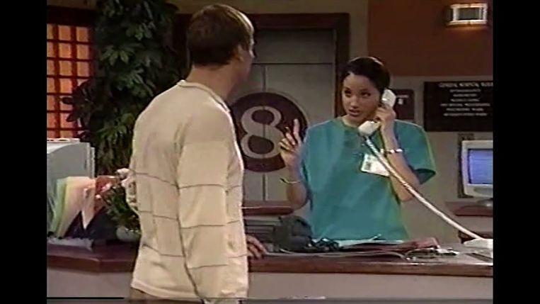 Meghan tijdens haar eerste rol in 'General Hospital'