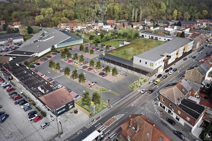 Lidl à l'Avenue Mascaux à Marcinelle (Charleroi)