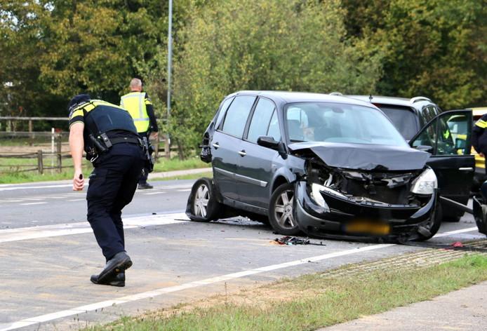 De schade aan de auto's was enorm