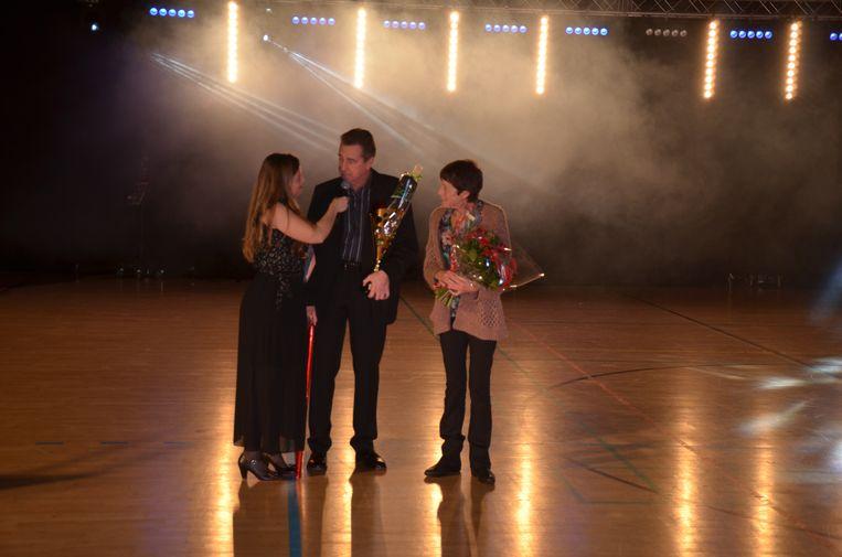 Jerome Van Doorslaer nam samen met zijn partner Anne-Marie zijn trofee in ontvangst.