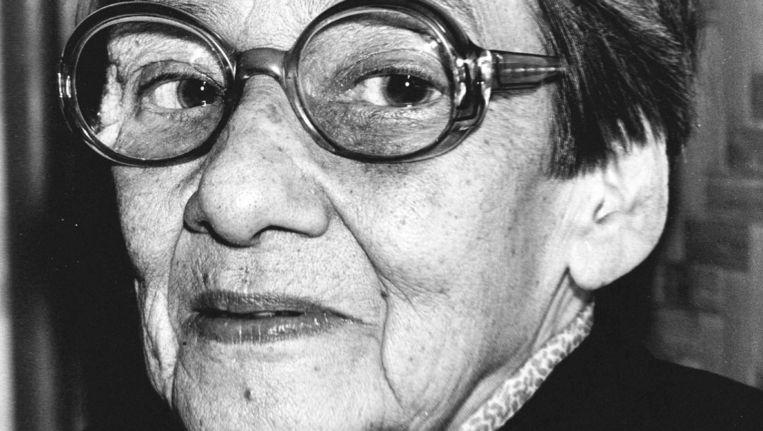 Elizabeth 'Beb' Vuijk (1905-1991), Nederlandse schrijfster. Beeld anp