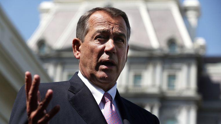 John Boehner, voorzitter van het Amerikaanse Huis van Afgevaardigden. Beeld getty