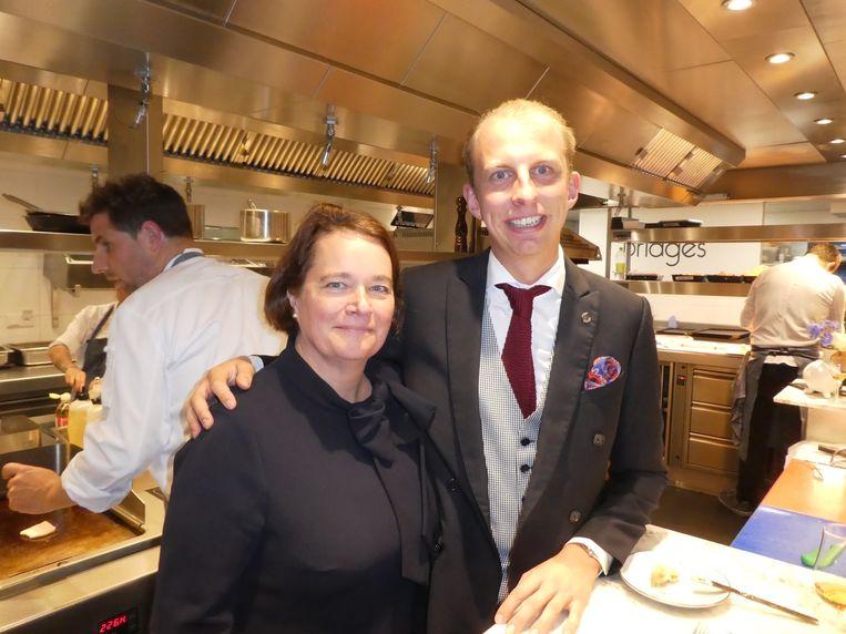"""Emmy Stoel, directeur The Grand, en maître Marco Westra, ook wel restaurantmanager. """"Maar voornamelijk smaakliefhebber."""" Beeld Hans van der Beek"""