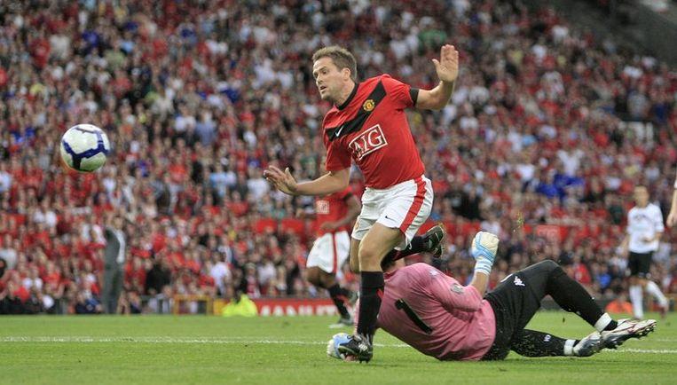 Manchester United's Michael Owen (L) valt weer buiten de selectie. Foto EPA Beeld