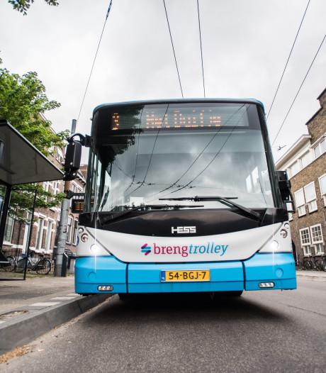 Bovenleiding trolleybus uitgevallen