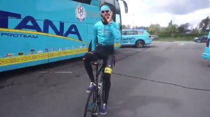 Rijdt showman Laurens De Vreese straks op deze manier supersteile Muur van Hoei omhoog?