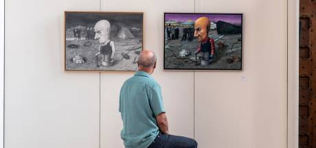 Kunstenaar Sven Hoekstra daagde zichzelf opnieuw uit: dat werk is te zien in de Stevenskerk
