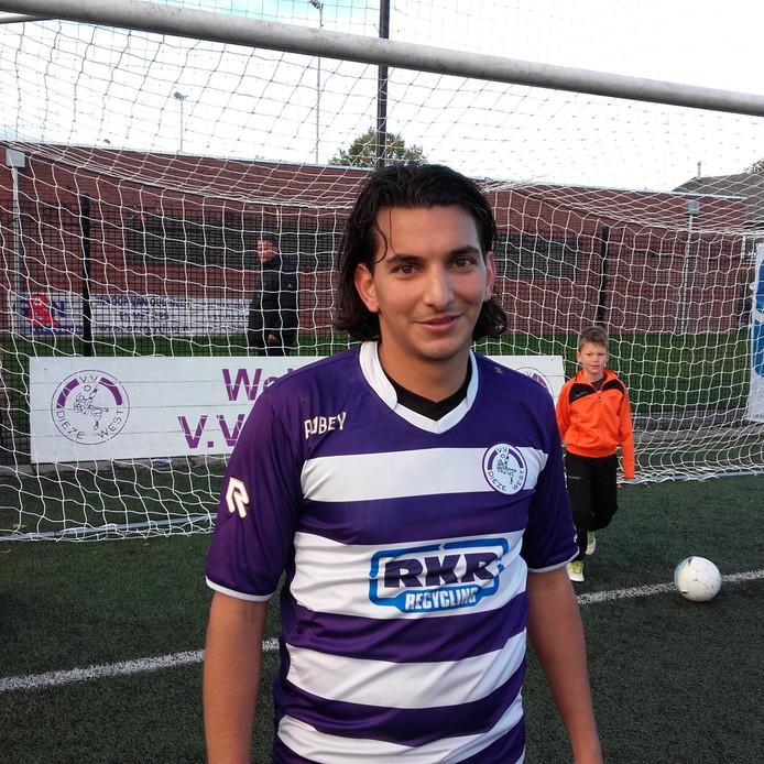 Nejim El Atiaoui maakte vlak voor tijd de winnende voor Dieze West
