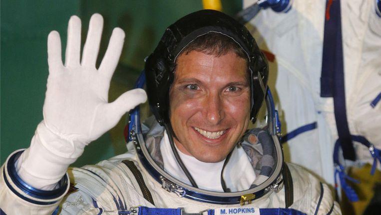 Michael Hopkins, een van de nieuwe bemanningsleden voor het internationale ruimtestation ISS. Beeld afp