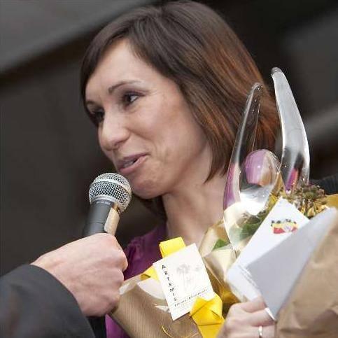 """""""J'ai désormais 11 Spikes chez moi"""", a compté de son côté Kim Gevaert, gagnante du Spike d'argent chez les dames."""