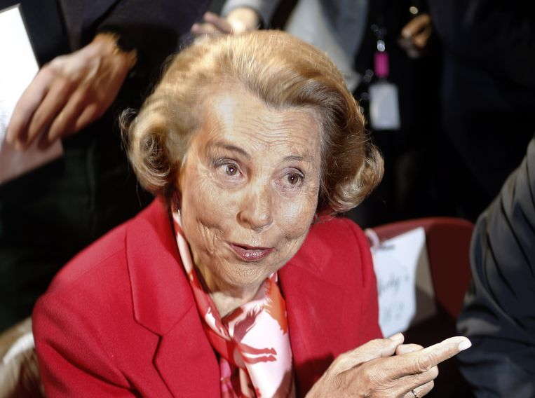 De rijkste vrouw van Frankrijk, L'Oréal-erfgename Liliane Bettencourt. Beeld AFP