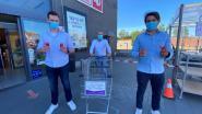 AD Delhaize in Sint-Eloois-Vijve nu extra veilig dankzij handgrepen voor winkelkarren én telsysteem