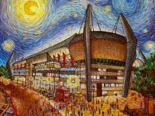 Roosendaalse kunstenares schildert het PSV stadion als Van Gogh