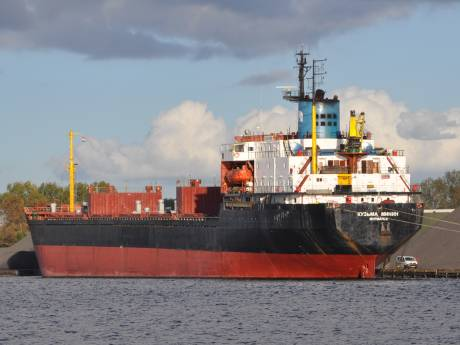 Kapitein weigert voedsel voor bemanning Russisch schip in Terneuzen