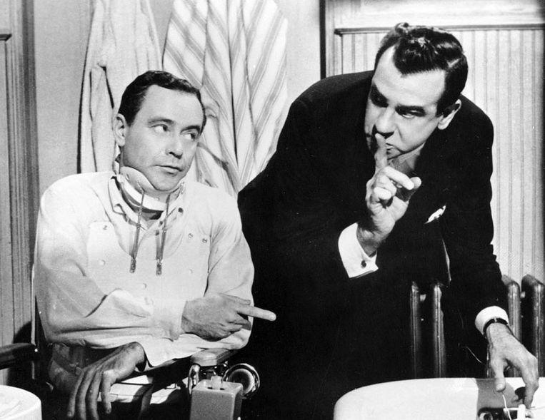 Jack Lemmon (links) en Walter Matthau in The Fortune Cookie van Billy Wilder. Beeld