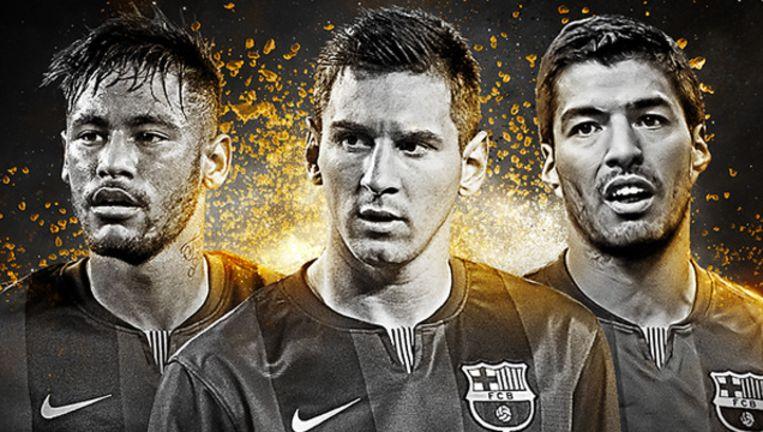 Het Barcelona-trio Neymar, Messi en Suarez genomineerd.