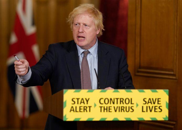 De Britse premier Boris Johnson.