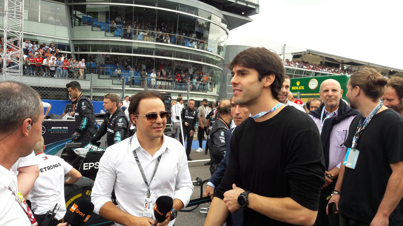 Felipe Massa en Kaká