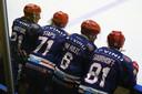 De ijshockeyers van Nijmegen Devils op archiefbeeld.