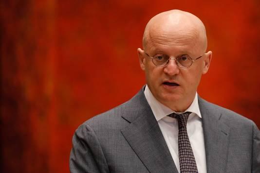 Minister van Justitie en Veiligheid Ferdinand Grapperhaus tijdens het wekelijks vragenuur in de Tweede Kamer.