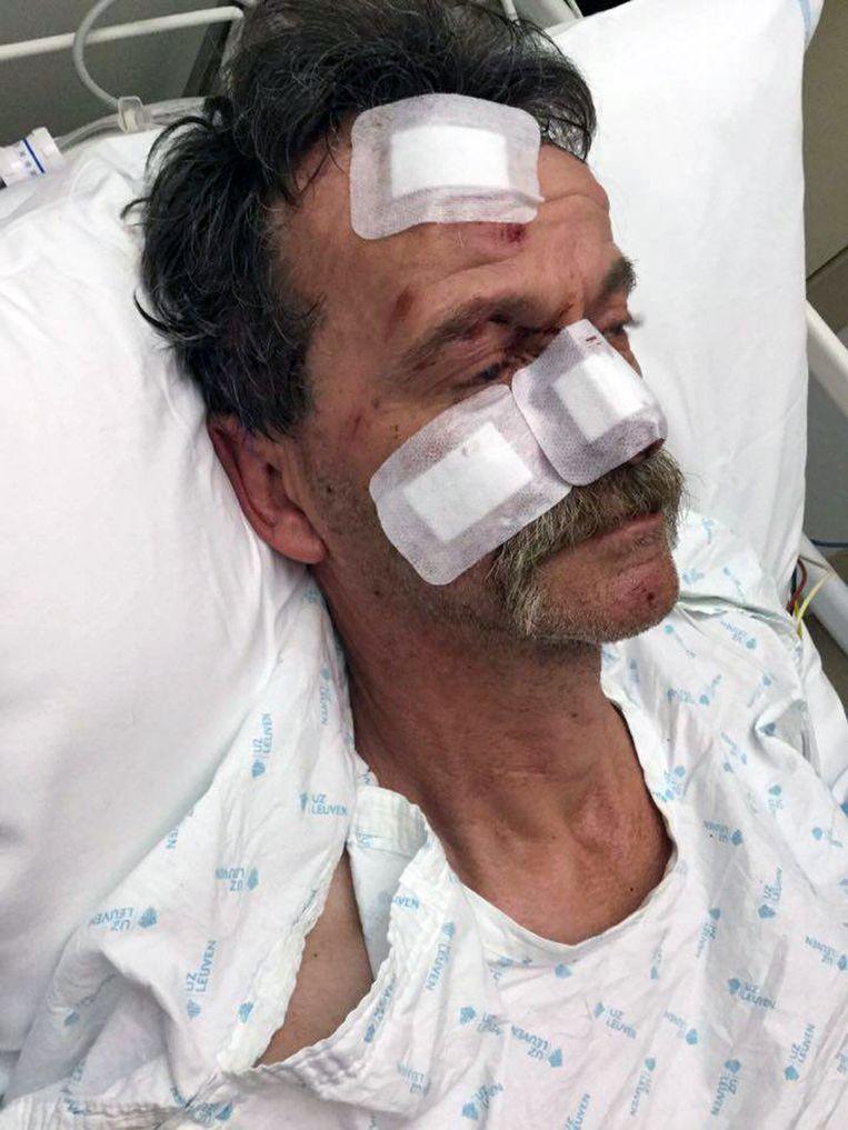 Luc Raus lag meer dan een week in het ziekenhuis, maar mag nu thuis verder revalideren.